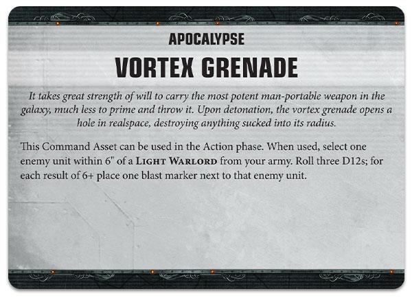 Granada de Vórtice Apocalypse