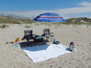 Beach Umbrella provides added relief from the sun