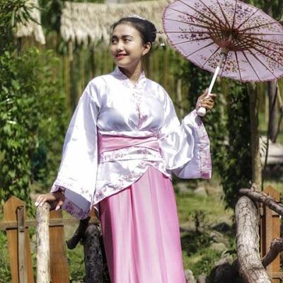 Persewaan Baju Kimono Jepang hanya Rp 25.000 di Tirta Kebon nDelik Magelang