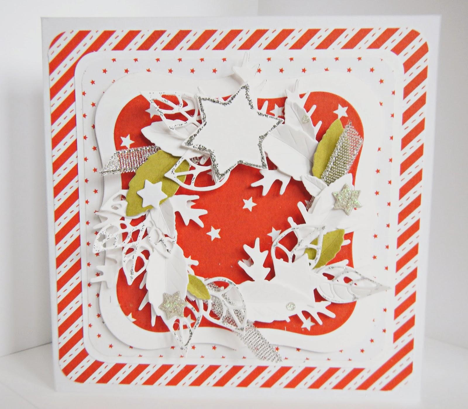 Bożonarodzeniowa kartka w czerwieni