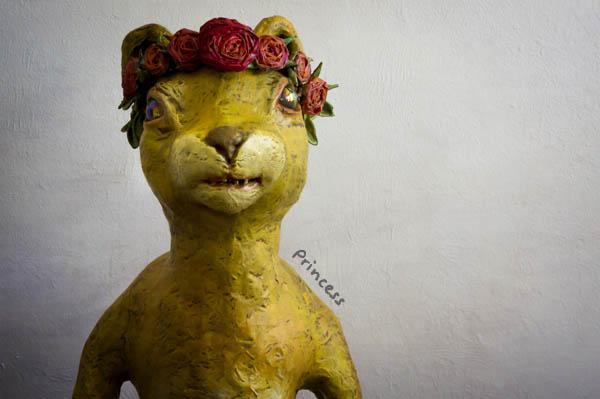 sculpted art, panther, sculpture