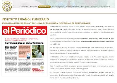 web centro enseñanza funeraria