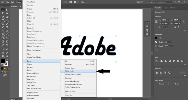 Outline Text in Adobe Illustrator