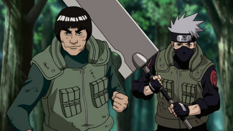 Gai y Kakashi