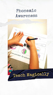 Letter b Beginning sounds worksheet from Teach Magically