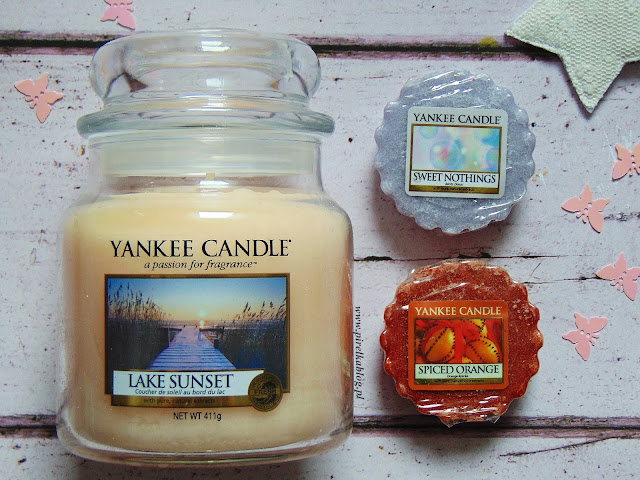Yankee Candle: Lake Sunset, Sweet Nothings, Spiced Orange