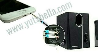 Suara audio hilang setelah handphone disambungkan ke speaker aktif