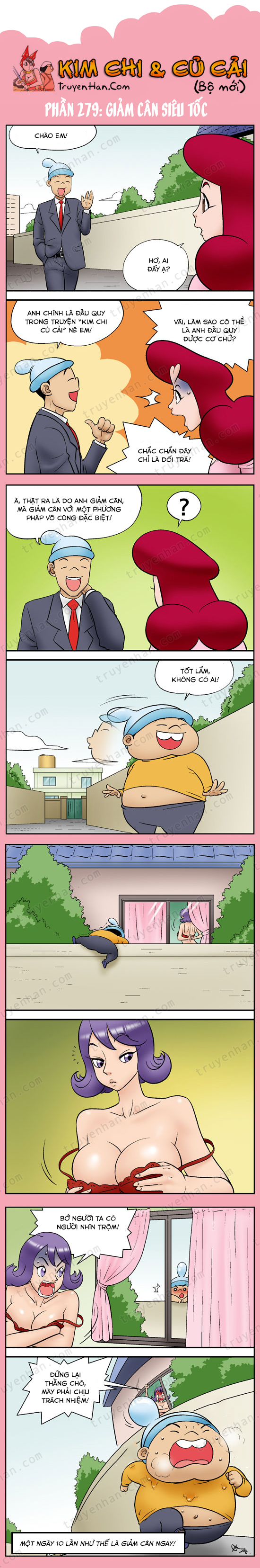 Kim Chi & Củ Cải (bộ mới) phần 279: Giảm cân siêu tốc