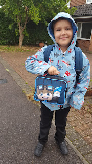 A young Dan Jon with his lunch box
