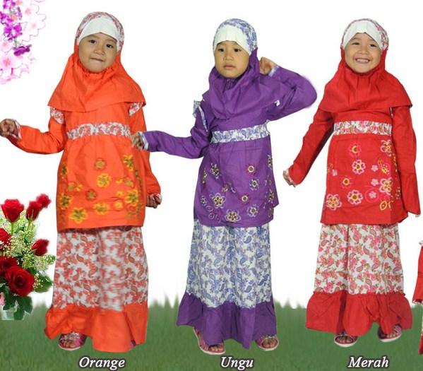 Baju Batik Anak Muslim: Contoh Baju Batik Muslim Anak Perempuan Dan Laki-laki