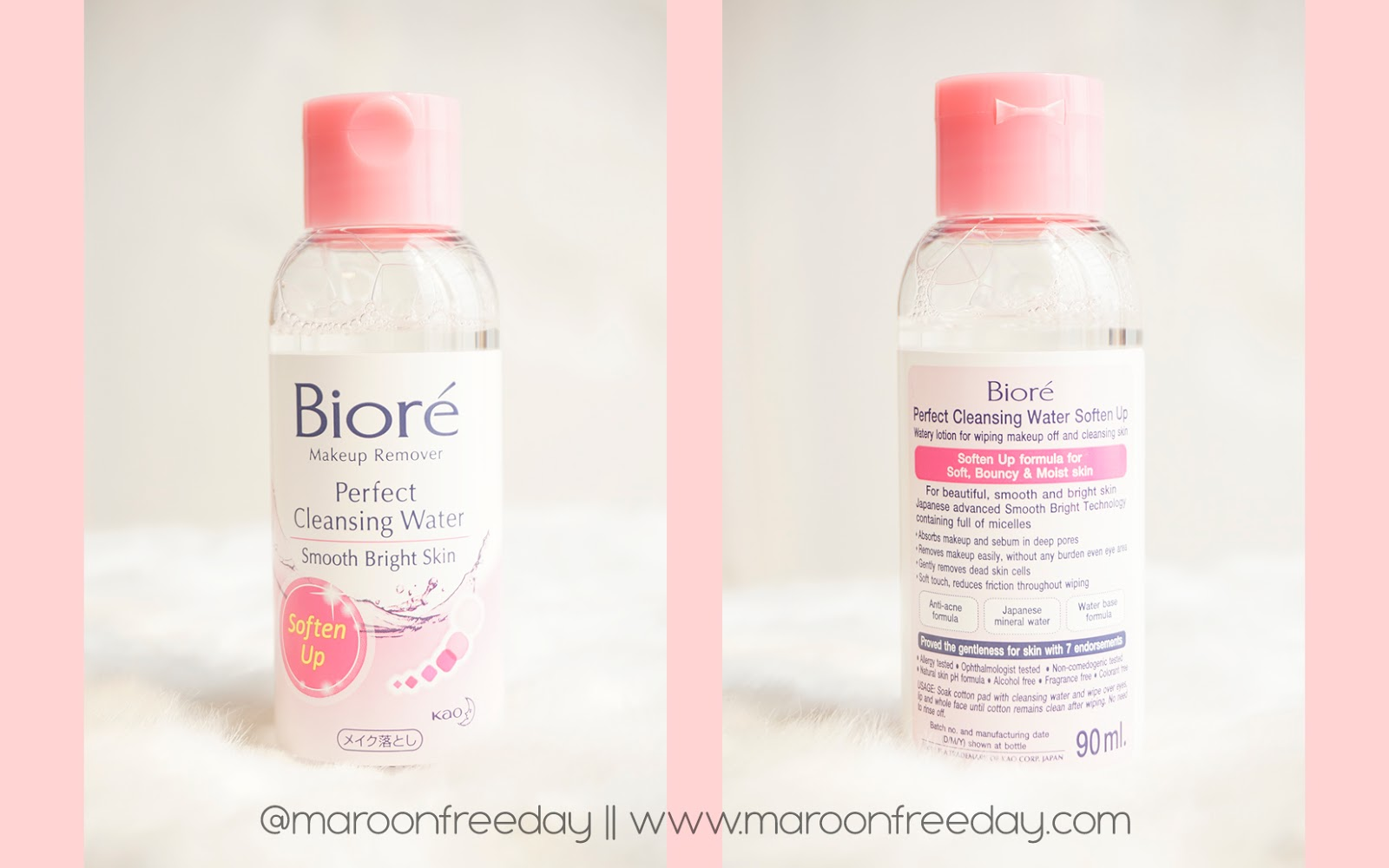 Review Biore Perfect Cleansing Water Soften Up