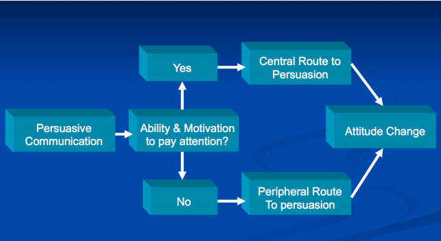 peripheral route and central route to persuasion Two routes to persuasion – richard petty and john cacioppo this proposes two major routes to persuasion: the central route and the peripheral route central route.