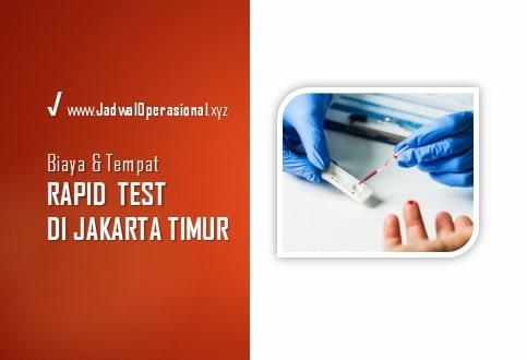 Rapid Test di Jakarta Timur