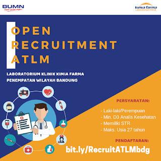 Lowongan Kerja ATLM Di Laboratorium Klinik Kimia Farma Cabang Bandung 2019
