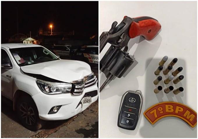 Caminhonete roubada em Rosário Oeste é recuperada na MT 010 por policiais do 7º BPM