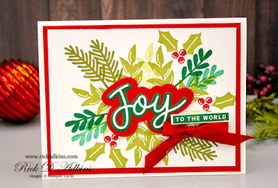 Super easy and quick Christmas Card using the Peace & Joy Bundle from Stampin' Up! Click here to learn more