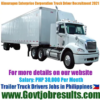 Kimuragon Enterprise Corporation Trailer Truck Driver Recruitment 2021-22