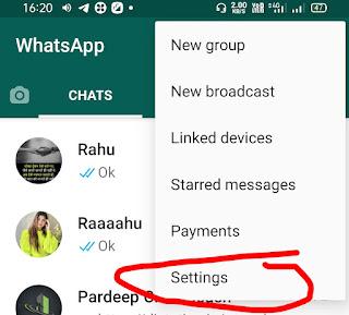 Whatsapp delete settings