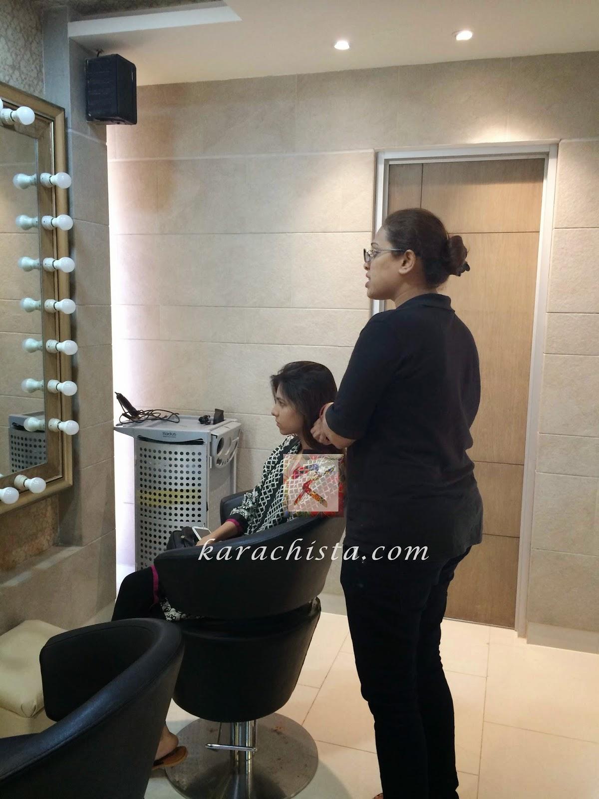 Laiba gets a custom Kerastase treatment for great hair