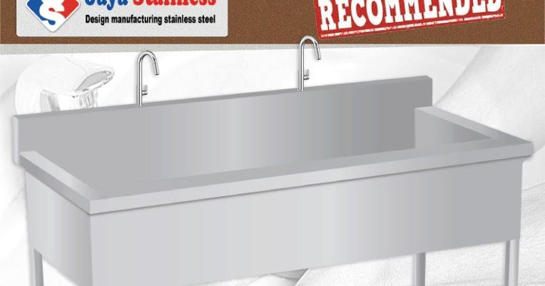 Wastafel js hws bak tempat cuci tangan stainless steel for Wastafel kitchen set