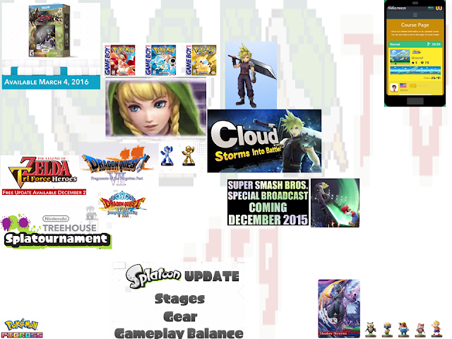Nintendo Direct new announcements November 12 2015 collage infographic
