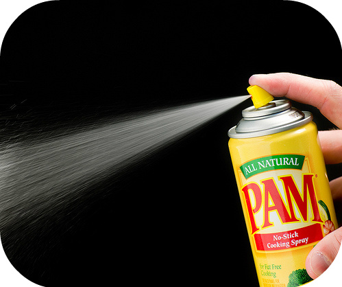Salon looking nails at home, by drying your nails with Pam cooking spray, by Barbie's Beauty BIts
