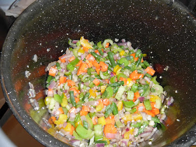 photo of veggies and spices in the pot