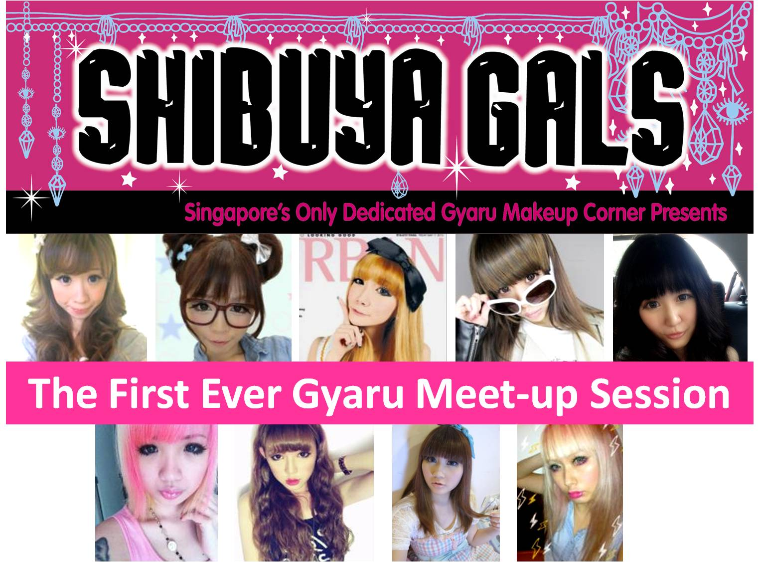 0892946f314 The event was led by nine gyaru senseis who had been chosen to do makeovers  on their