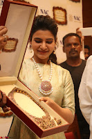 Samantha Ruth Prabhu in Cream Suit at Launch of NAC Jewelles Antique Exhibition 2.8.17 ~  Exclusive Celebrities Galleries 015.jpg