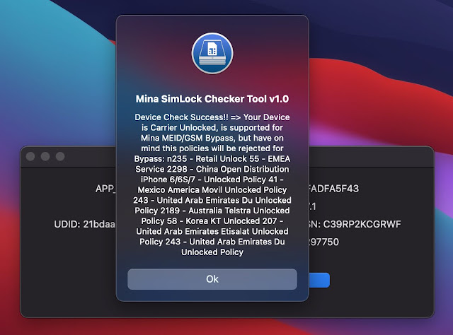 Mina Simlock Tool Checker For maC Computer Only