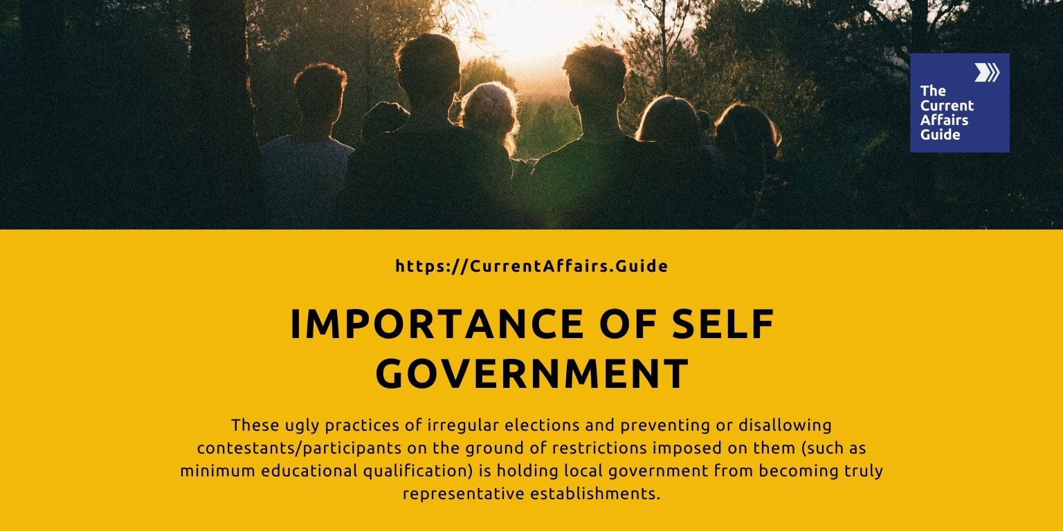 IMPORTANCE of Self Government