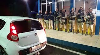 Veículo roubado em Salvador