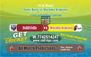 Who will win Today T10 League 2019, 19th Match MAR vs DEB, 100% Sure Prediction