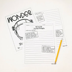 Image of a journal for the novel 'Wonder' by Fifth in the Forest on Teachers Pay Teachers