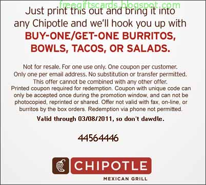 image about Chipotle Coupons Printable named Price cut Discount codes and Promo Codes 2019: Chipotle Discount coupons