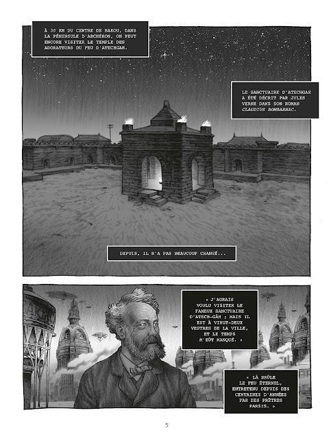 """page de """"LA MALEDICTION DU PETROLE"""" de Jean-Pierre Pécau et Fred Blanchard chez Delcourt"""