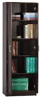 DeckUp Giona Book Shelf and Storage Unit (Dark Wenge Matte Finish)