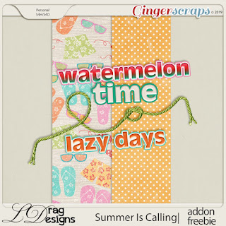 Creative Team, Annemarie, for GingerScraps –– Summer Is Calling: The Collection by LDrag Designs and Coordinating Freebi
