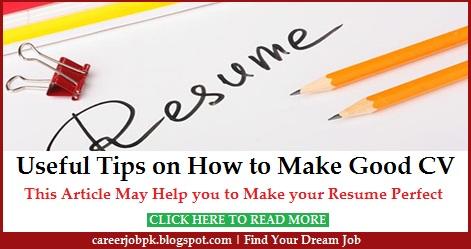 Useful Tips on How to Make Good CV