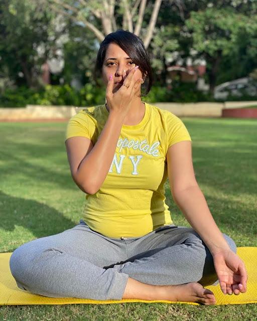 Anasuya Bharadwaj Yoga Day Photos Latest Actress Trend