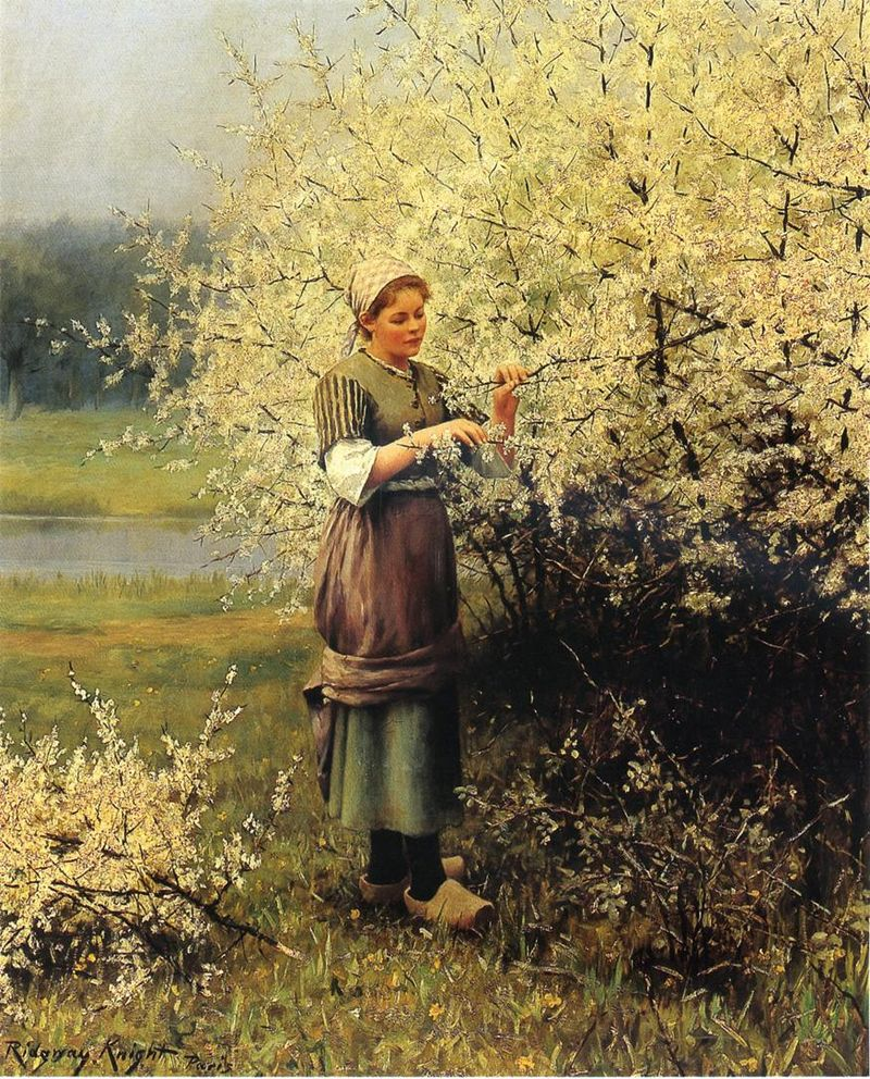 A Primavera Florescendo - Daniel Ridgway Knight e suas mais belas pinturas
