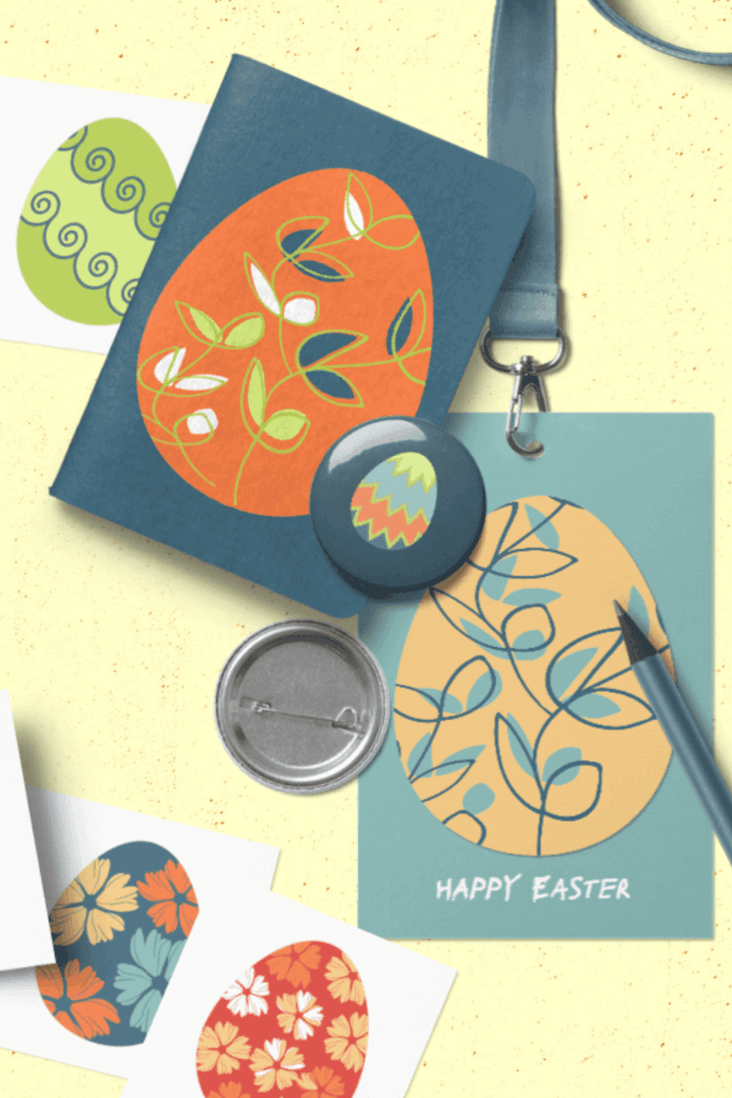 SET OF 32 EASTER EGS CLIPART PNG