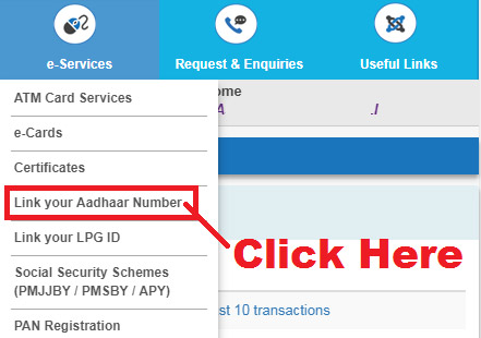 how to link aadhaar with sbi bank account online