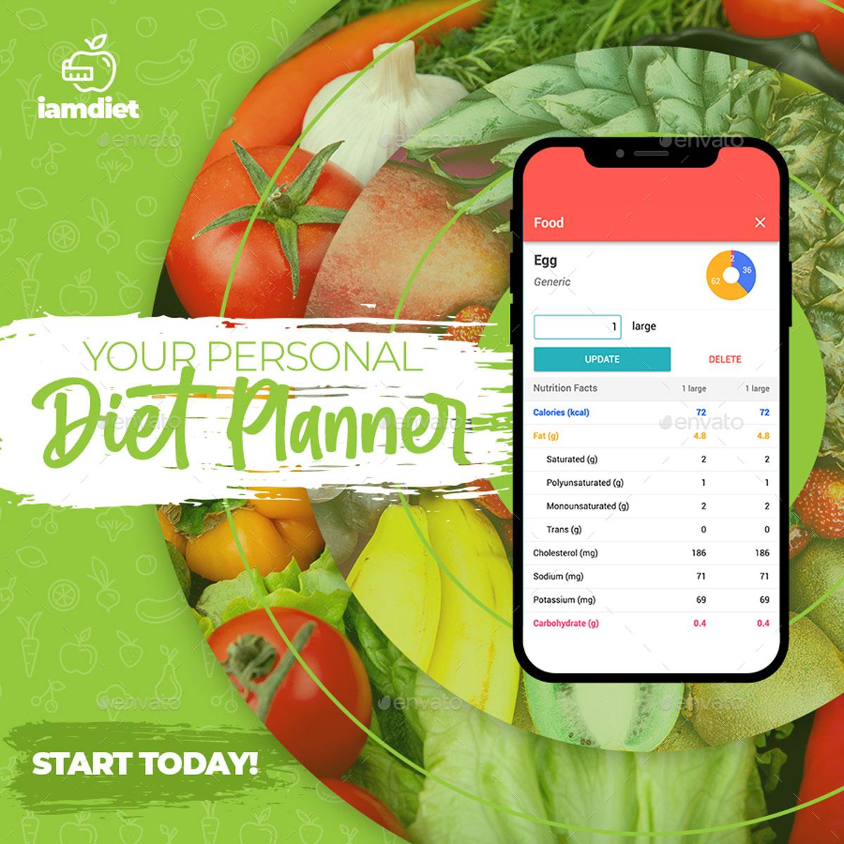 Diet Instagram Post Template 26492343
