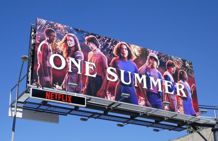 One Summer Stranger Things 3 billboard