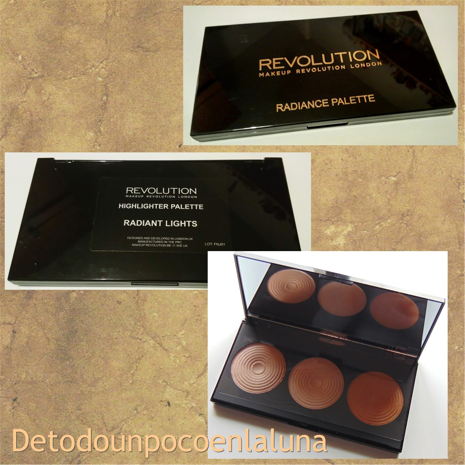 paleta radiance de makeup revolution