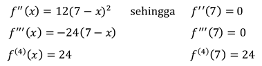 Uji Derivatif ke-N untuk Ekstrem Relatif dari Fungsi Satu Variabel