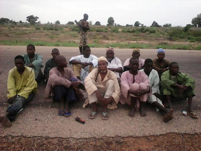 77 Boko Haram Terrorists Surrender As Soldiers Rescue 236 Hostages In Latest Assault (See Photos)