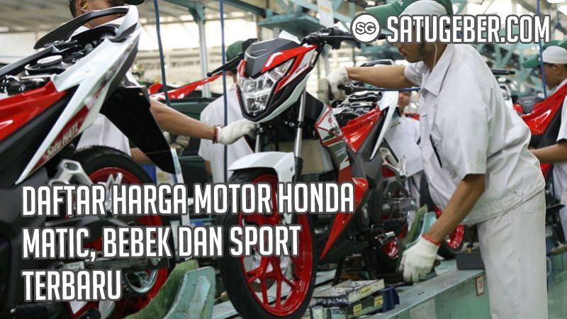 foto harga motor baru Honda