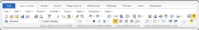 Screenshot Classic Menu for Office 2019 v3.0 Full Version